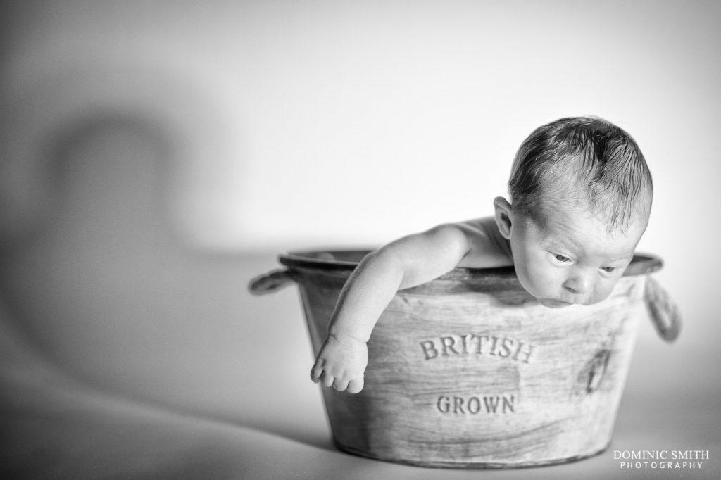 Newborn Photoshoot Tin Bath