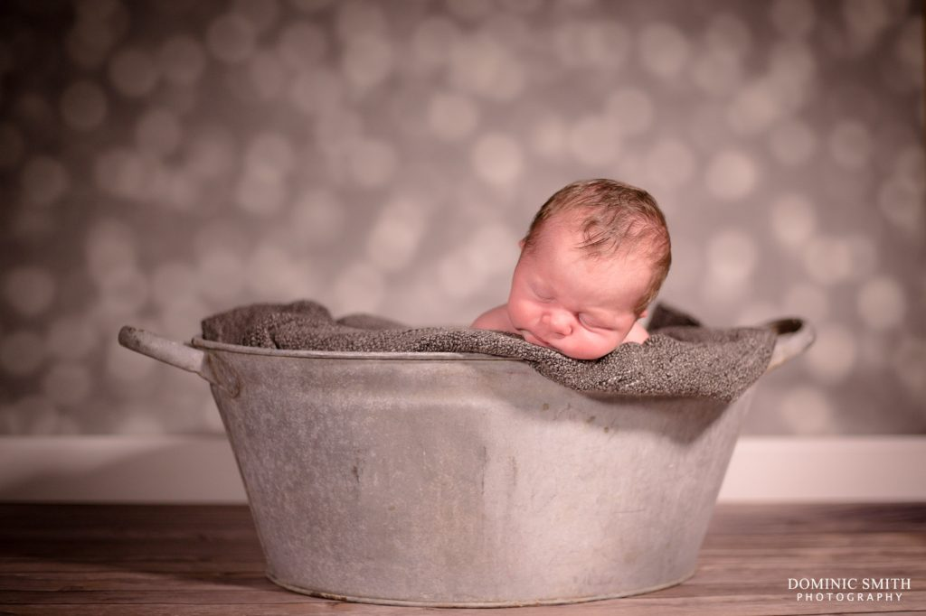 Newborn Photoshoot Tin Bath 2