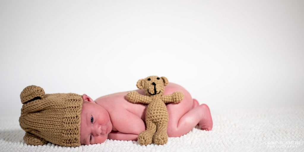 Newborn Photoshoot with Teddy Bear