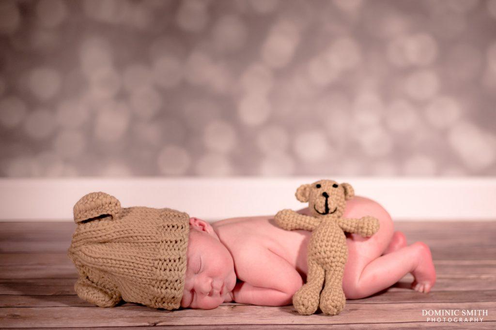 Newborn Photoshoot with Teddy Bear 2