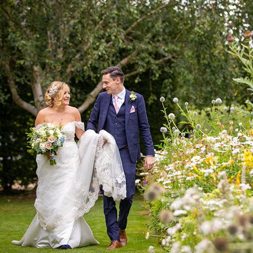 Wedding of Bethan and David at Langshott Manor Hotel, Surrey